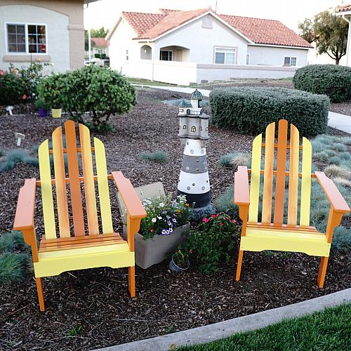 Summer Ombre Adirondack Chairs Makeover