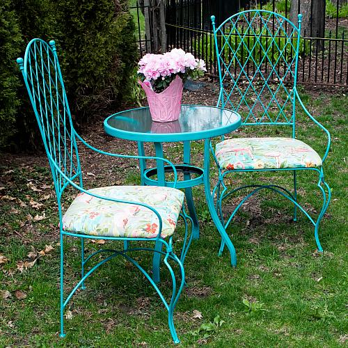 Vintage Wrought Iron Table And Chairs Update Project By