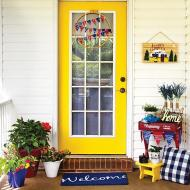Yellow Americana Door