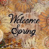Welcome Spring Wood Canvas