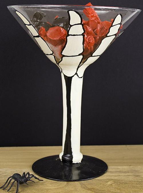 Giant Halloween Skeleton Hand Martini Glass Project By