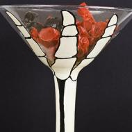 Skeleton Hand Martini Glass