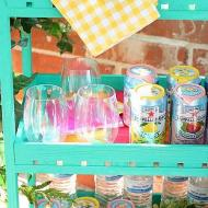 Colorful DIY Outdoor Bar Cart