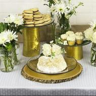 Metallic Gold Cake Stands