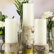 Metallic Gold Candle Holders