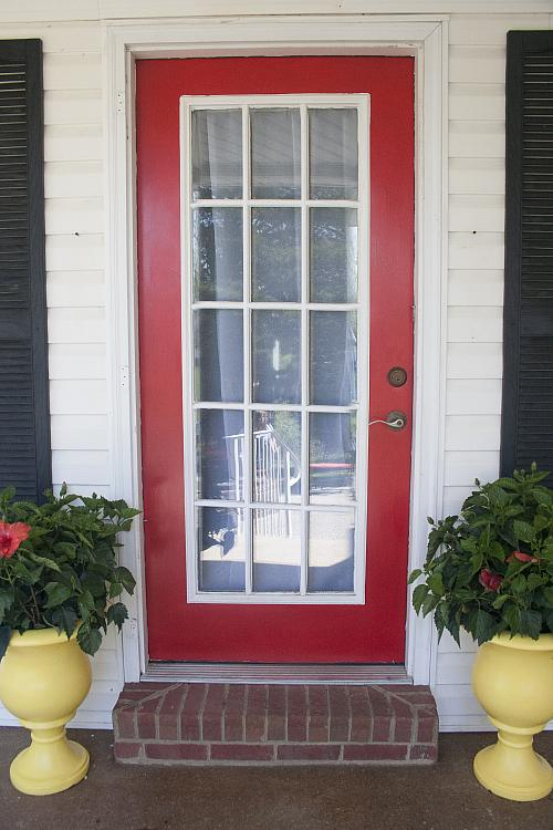 Bold Red Front Door Project By Decoart