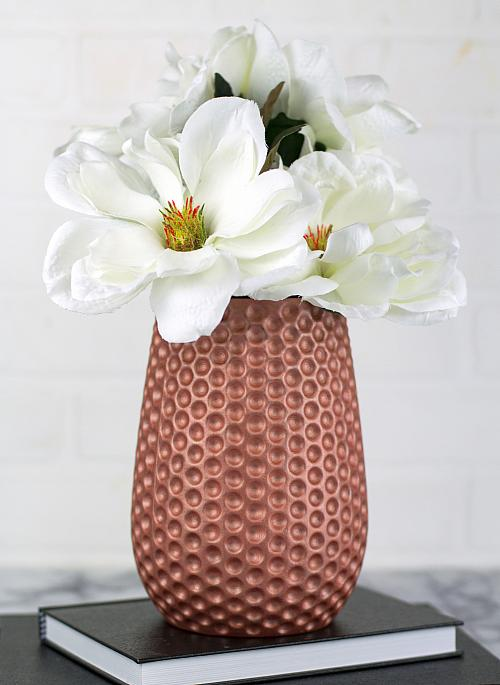 Rose Gold Matte Metallic Vase
