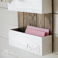 DIY Rustic Chic Wedding Card Holder