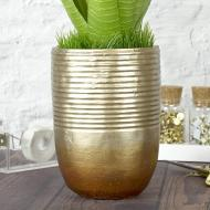 Gold and Bronze Ombre Vase