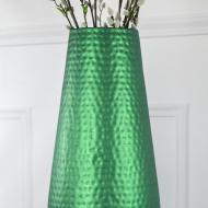 Emerald Matte Metallic Vase