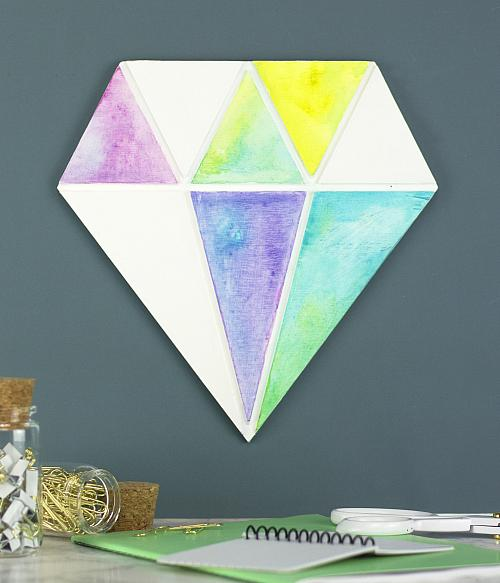 sc 1 st  DecoArt & Watercolor Diamond Wall Decor - Project by DecoArt
