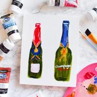 Boozy Bottles Canvas Art