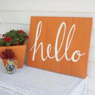 Outdoor Hello Sign