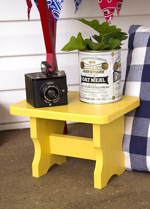 Yellow Porch Plant Stand Project By Decoart