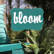 Turquoise Garden Sign