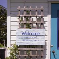 """""""Welcome to our Home"""" Sign"""