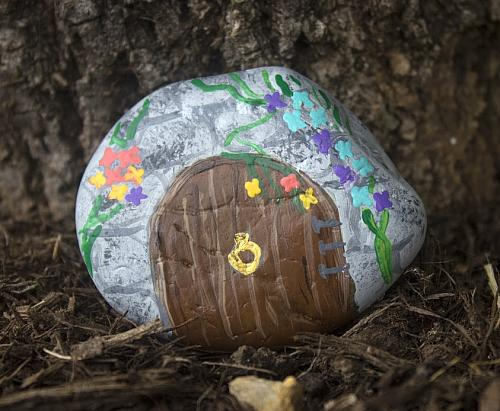 Fairy Garden Door Painted Rock Project By Decoart