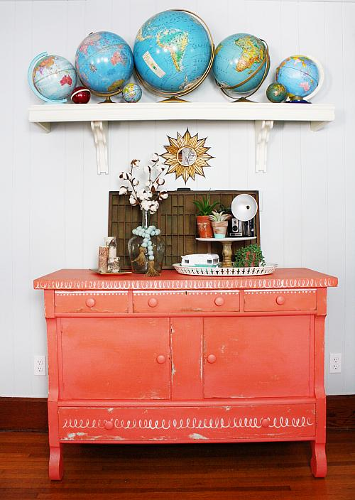 Chalky Finish Painted Buffet