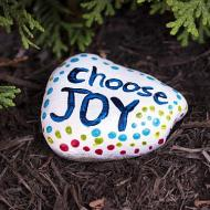 Choose Joy Painted Rock