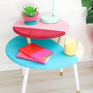 Color Blocked Coffee Table