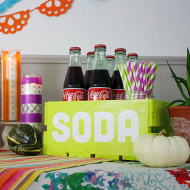 Halloween Party Soda Crate