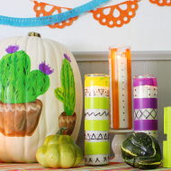 Colorful Halloween Party Candles