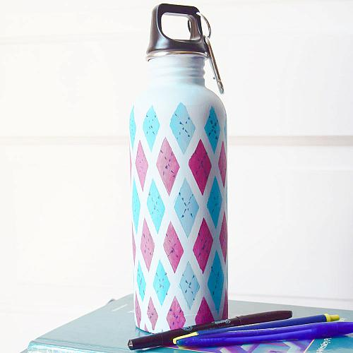 Custom Painted Water Bottle