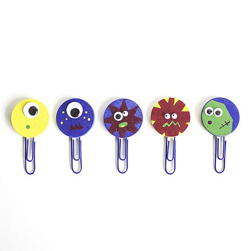 Colorful Monster Clips