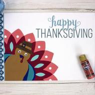 Paint by Number Turkey Placemat