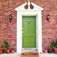 Contemporary Green Door