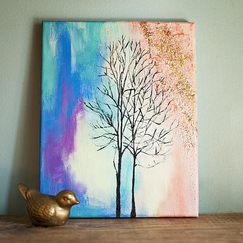 Colorful Winter Canvas Project By Decoart