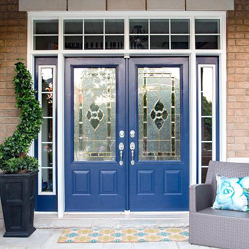 Captivating New England Navy Painted Front Door   Project By DecoArt