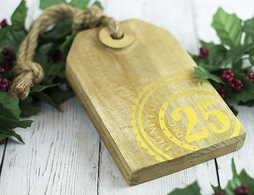 Wooden Christmas Tag Decor Project By Decoart