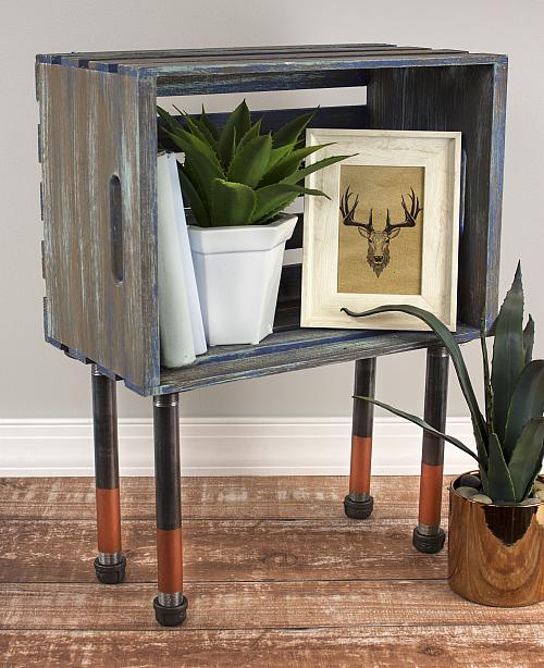 Beau Industrial Crate Side Table   Project By DecoArt