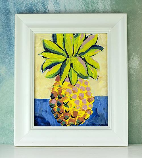 Textured Pineapple Painting