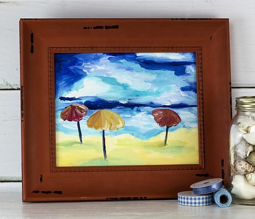 Beach Inspired Canvas Painting