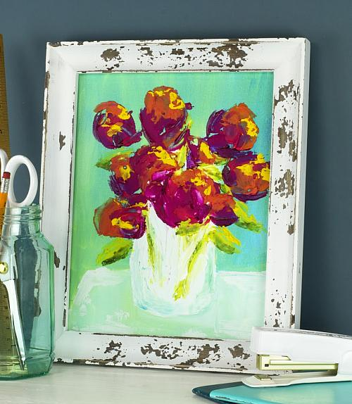 Textured Floral Canvas Project by DecoArt