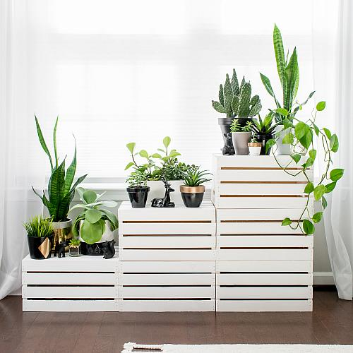 Crate Tiered Plant Stands Project By Decoart
