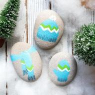 Cozy for Winter Painted Rocks