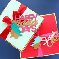Color Blocked Holiday Gift Tags