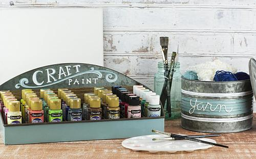 Farmhouse Style Galvanized Metal Craft Storage Set