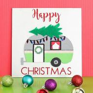 Happy Christmas Camper Sign