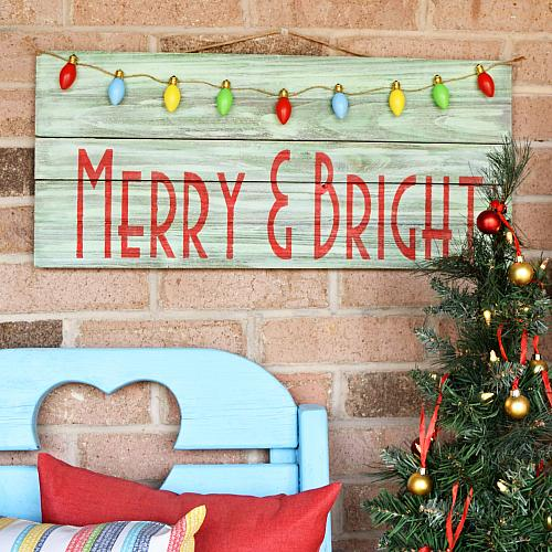 Merry Amp Bright Christmas Sign Project By Decoart