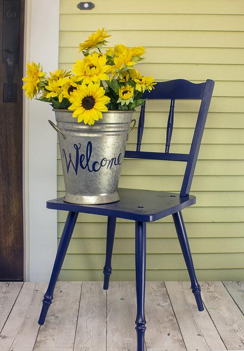 Front Porch Chair And Sunflowers Décor   Project By DecoArt