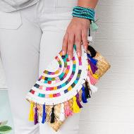 Colorful Clutch with Tassels