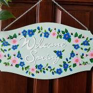 Welcome Spring Plaque
