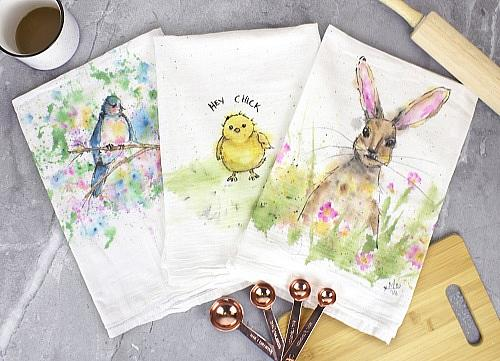 Spring Is In The Air Tea Towels