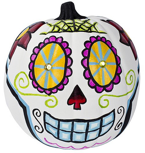 Bright Day of the Dead Pumpkin