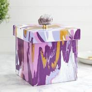 Purple Marbled Box