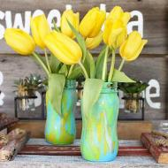 Marbled Mason Jars